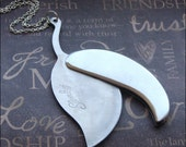 Silver Leaf Pocket Knife Necklace - Enchanted Secret Weapon - Jewelry by TheEnchantedLocket - UNISEX Birthday Groom Father Gift