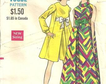 Vogue7275 Maternity Evening Dress sz 12 Vintage 1960s Pattern cut  complete