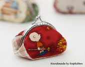 Coin purse sewing pattern, framed coin purse sewing pattern ---- without metal frame