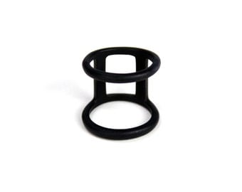 Parallel Ring (Matte Black, Gold or Silver)