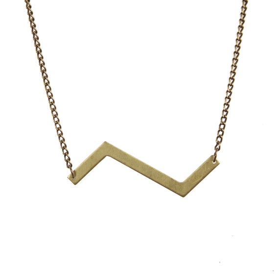 Brass Zigzag Necklace