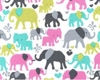 1/2 yard - Elephant walk in Orchid, Michael Miller Fabrics