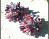 Fourth of July Corker Hair Bows, Set of 2,  Girls Bows, Infant Bows, Toddler Bows, Patriotic