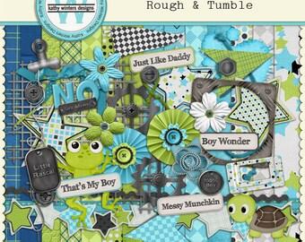 Digital Scrapbook Rough and Tumble