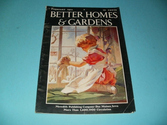 Vintage Better Homes And Gardens Magazine February 1933
