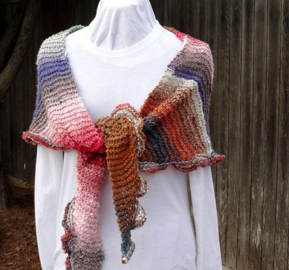 Knitting Pattern, Easy to Knit Shawl Pattern with Ruffled Edge plus Free Knitting Pattern, Knitted Prayer Shawl Patterns, Knit Gift Idea