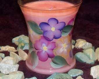 Hand Painted Five Petal Flowers with Pomegranate Fragrance