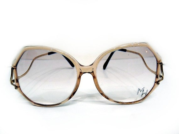 70s pale oversized eyeglasses luxottica by