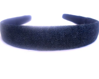 Blue Jean Denim Headband 3/4 Inch