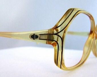 SALE Christian Dior Vintage Eyeglass Frames 1980s  90s Mint Condition. Large Lens style 2035