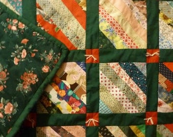 Emerald Patchwork Throw Quilt