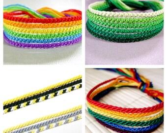 Custom Friendship Bracelets - Set of Six Thin Bracelets