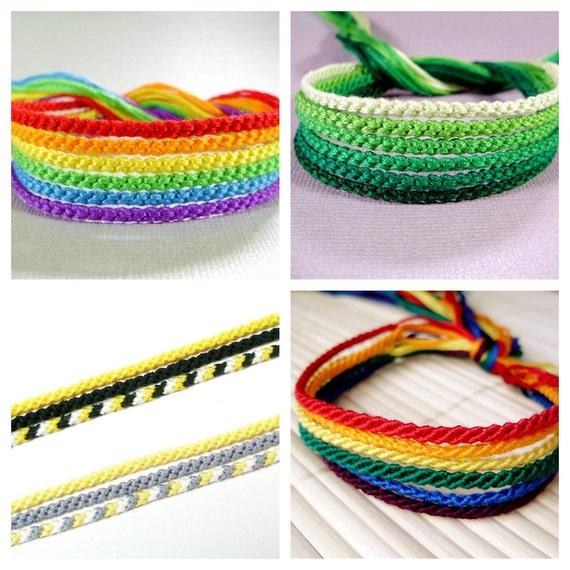 Custom Friendship Bracelets - Set of Six Handmade Bracelets