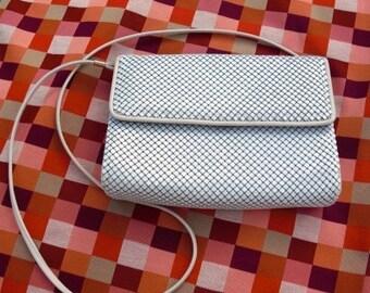45% OFF 80s Handbag / Vintage Handbag / Whiting and Davis Handbag Mesh Handbag in White