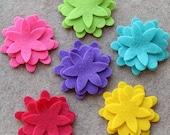 Summer of Love - Larkspur -  36 Die Cut Felt Flowers