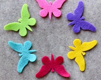 Summer of Love - Butterflies - 24 Die Cut Felt Shapes