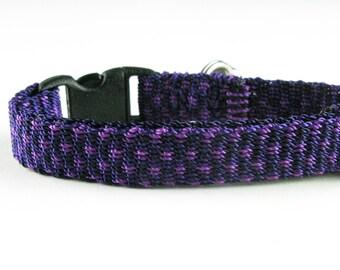 Purple Ikat Kitty Collar Hand Woven Breakaway Kitten Collar