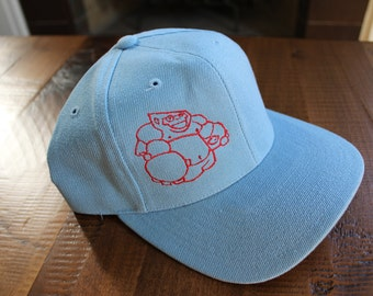Baby Blue Embroidered Pablo The Gorilla Baseball Cap