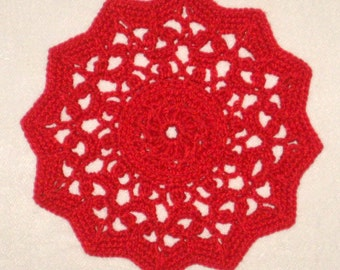 Small Red Doily