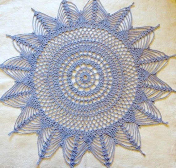 Dusty Blue Doily 2 - Donation for Disaster Relief