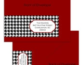Houndstooth Plaid - Custom Wrap Around Envelope Labels