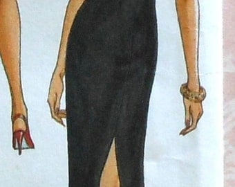 Side Slit Gown Sewing Pattern UNCUT Butterick 6702 Sizes 12-16 formal wedding prom