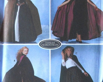 Hooded Cape Sewing Pattern UNCUT Simplicity 5794 Sizes Extra Small-Large 3 variations