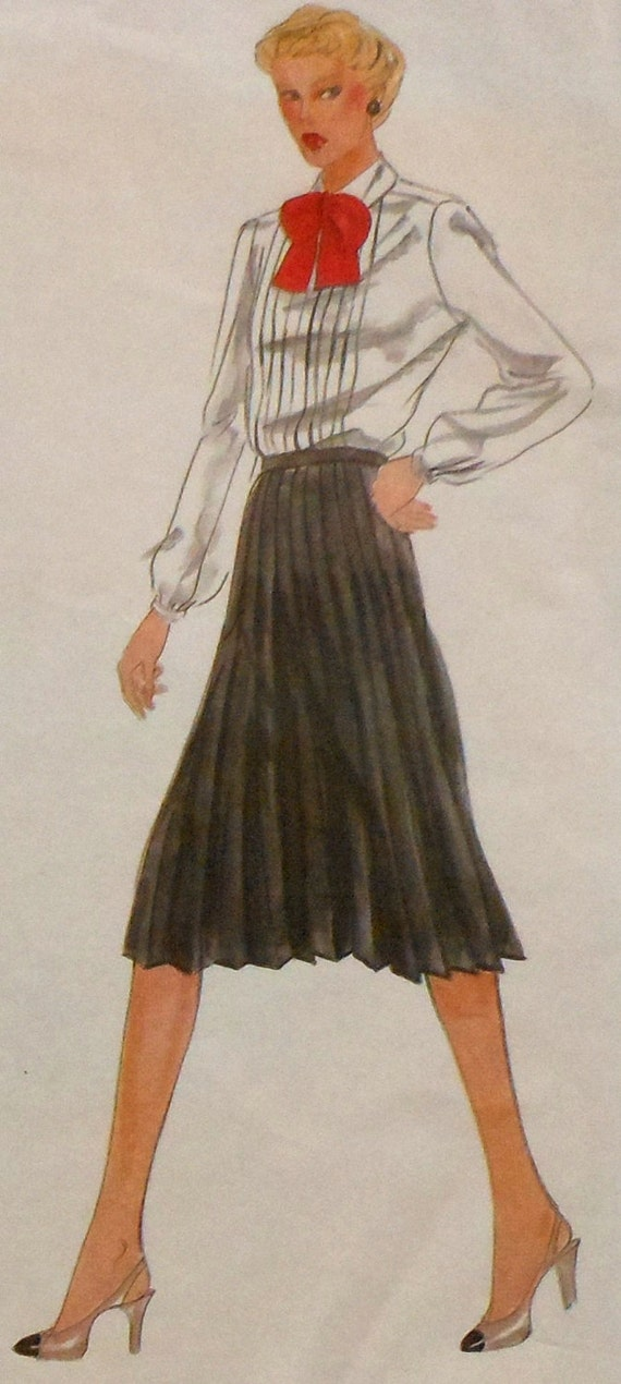 retro pleated skirt sewing pattern vogue american