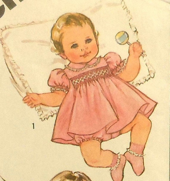 Smocked Baby Dress Sewing Pattern Simplicity 5817 Size 6