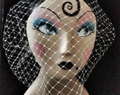 Beatrice Birdcage veil with Swarovski Diamantes - Made to Order - Modern Wedding Bridal