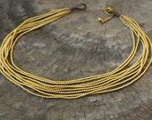 Heavy Brass Chain Necklace / Choker Necklace