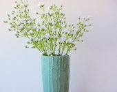 Pale green Vase / green Home Decor / Concrete and Glass Vases / made to order