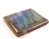 Labradorite Rectangle Designer Gemstone Cabachon Fiery Flash Unusual Stone Blue Green Gold Colors