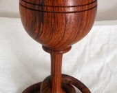 Rosewood Wedding Two Captive Rings Goblet