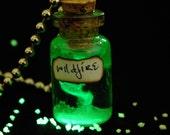 Wildfire or Custom Greek Fire Glow In The Dark Charm Necklace, Keychain