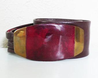 Vintage Bonnie Boynton Copper and Enamel Belt