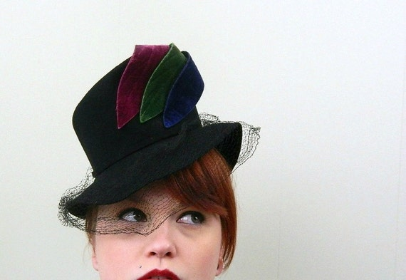 40s womens hat vintage babydoll top hat by