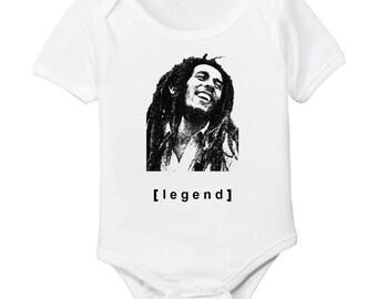 Bob Marley Legend Organic Baby Bodysuit