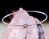 Thin Sterling Silver Bangle Bracelet - Skinny, Lightweight, Elegant Bracelet - Simple Bangle Bracelet - Minimalist Jewelry - Thin Bracelets