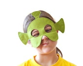 Martian Felt Children Mask, Alien Kids Carnival Dress up Costume Accessory, Pretend Play Toy for Girls and Toddlers
