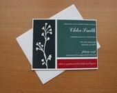 Modern Color Block Bridal Shower Invitation - Digital Design (Printable JPG)