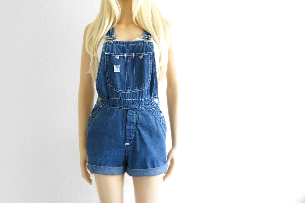 Denim overalls for little girls come in the classic shorts-style as well as overall-style dresses. Embellished detail, embroidery and faded accents give cool options for dressing your little one. For women, look to many of the same options.