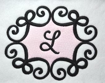 Swirly Bow Frame Monogram Font