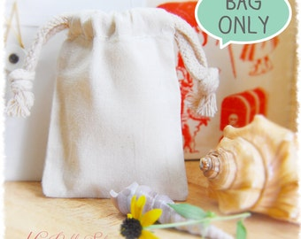 "75 Premium Muslin Bags 3""x4"" (High quality with double drawstring 3x4)"