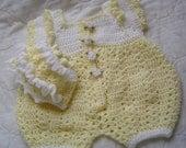 0031A Preemie Pattern,Christening Baby Set,Reborn Pattern,Crochet Baby Romper by CarussDesignZ