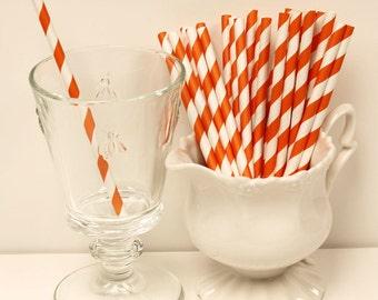 Paper Straws, 25 ORANGE COCKTAIL Short  Paper Straw, Wedding, Kids Straws Birthday, Cake Pop Stick, Retro Straws, Party, Smoothies, Diy flag