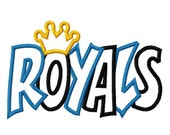 Instant Download Royals with a Crown 2 Color Embroidery Machine Applique Design 2989