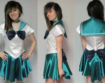 Sailor Neptune Scout Costume Cosplay Adult Women's Size Custom Fit 4 6 8 10 12 Sailor Moon
