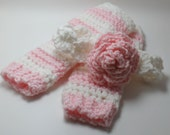 Headband and Legwarmers Photo Prop Baby Legs Baby Headband 0-6 months and 6-12 months - KnittyMomma