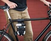 Bicycle U-Lock Holster - Frame-Mounted - Leather - for Krypto Mini-Evo 5 Lock
